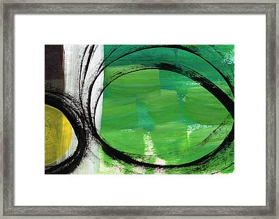 Intertwined- Abstract Painting Framed Print by Linda Woods