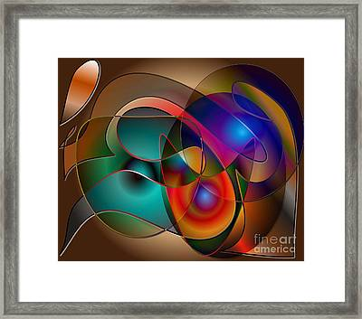 Framed Print featuring the digital art Intertwined by Iris Gelbart