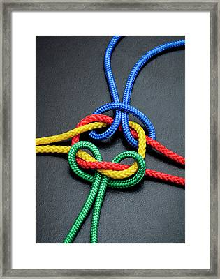 Intertwined Multicolored Ropes Framed Print by Jorg Greuel