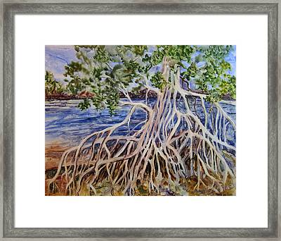 Framed Print featuring the painting Intertwined by Roxanne Tobaison