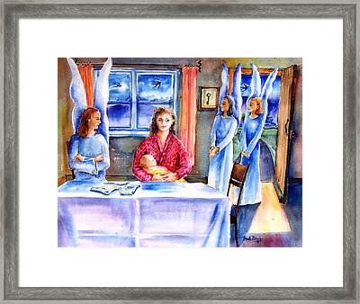 Interview For A Guardian Angel  Framed Print by Trudi Doyle