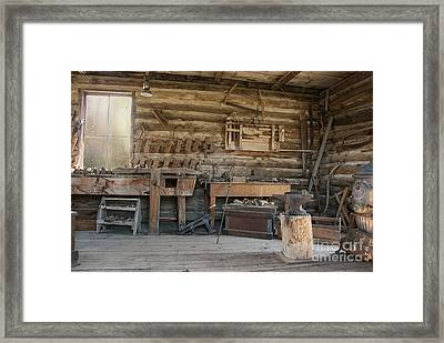 Interior Of Historic Pioneer Cabin Framed Print by Juli Scalzi