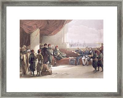 Interview With The Viceroy Of Egypt Framed Print