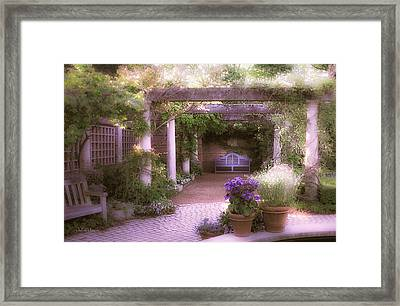 Intimate English Garden Framed Print by Julie Palencia