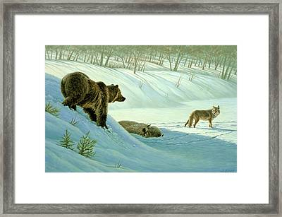 Intimidation   Framed Print