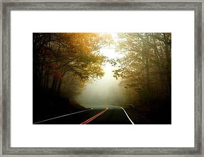 Into A Cloud Framed Print