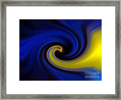 Into Blue Framed Print by Trena Mara