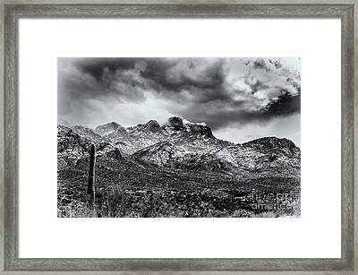 Framed Print featuring the photograph Into Clouds by Mark Myhaver
