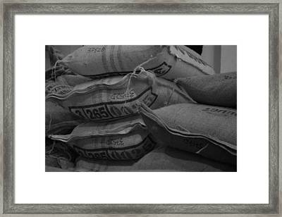 Into Coffee Big Time Framed Print by Maeve O Connell