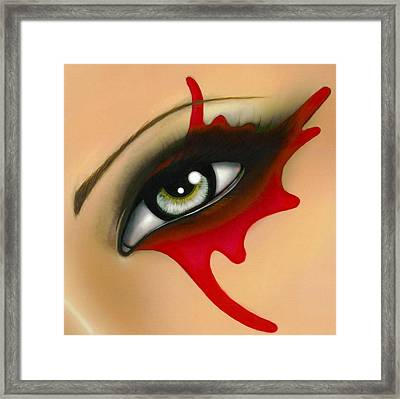 Into Her Soul Framed Print by Elaina  Wagner