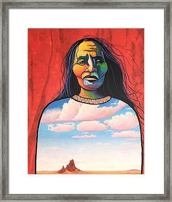 Into Her Spirit Framed Print by Joe  Triano