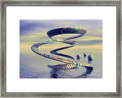 Into Life - Surrealism Framed Print