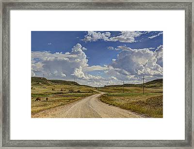 Into Little Valley  Framed Print