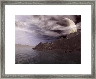 Into Other Worlds Framed Print by Julie Grace