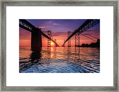 Into Sunrise 2 Framed Print
