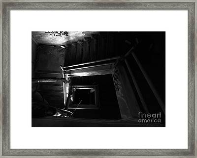 Into The Abyss - Bw Framed Print by James Aiken