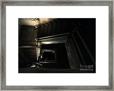 Into The Abyss Framed Print by James Aiken