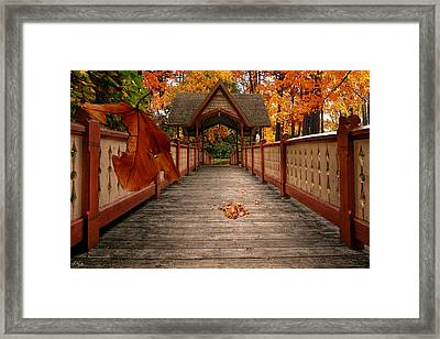 Into The Autumn Framed Print by Lourry Legarde