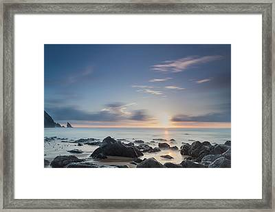 Into The Blue Iv Framed Print