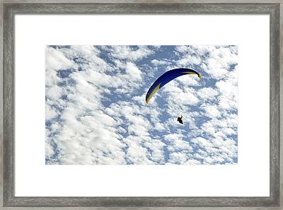 Framed Print featuring the photograph Into The Blue Yonder by AJ  Schibig