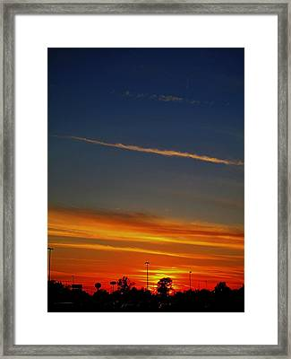 Into The Bluest Sky Framed Print