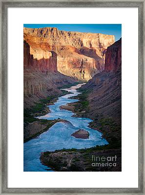 Into The Canyon Framed Print by Inge Johnsson