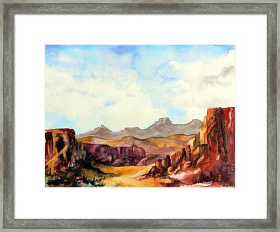 Into The Canyon Framed Print