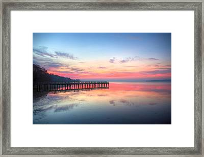 Into The Chesapeake  Framed Print