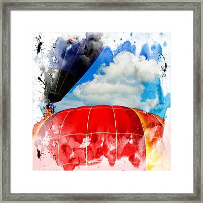 Into The Clouds Framed Print by Ken Evans