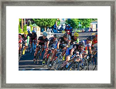 Framed Print featuring the photograph Into The Curve by Vinnie Oakes