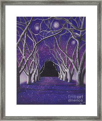 Into The Dark Framed Print by Elizabeth Dobbs
