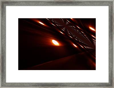 Into The Death Star Framed Print by Jeff Swan