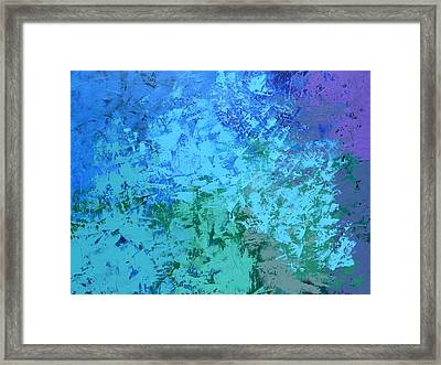 Framed Print featuring the painting Into The Deep Blue Sea by Linda Bailey