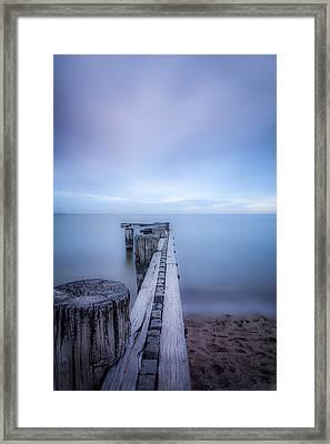 Into The Deep Blue Framed Print