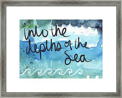 Into The Depths Of The Sea Framed Print