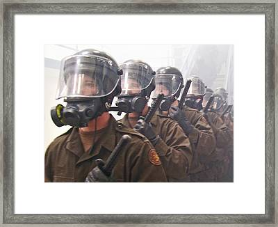 Into The Disturbance Framed Print by Laura Lindley