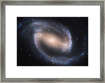 Into The Eye Of A Spiral Galaxy Framed Print by The  Vault - Jennifer Rondinelli Reilly