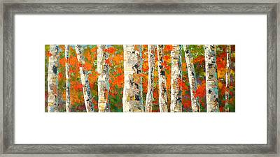 Into The Fall Framed Print