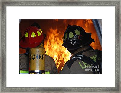 Into The Fire Framed Print by Steven Townsend