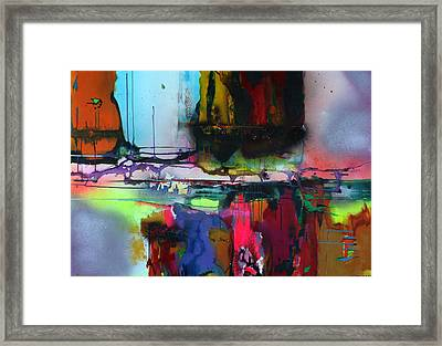 Into The Flow Framed Print by Willena Le Roux