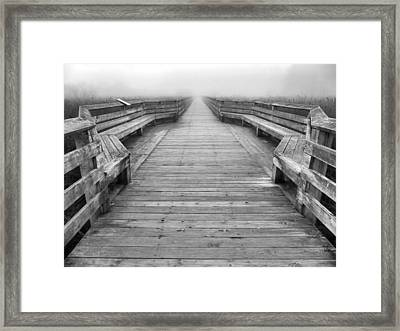Into The Fog Framed Print by Cheryl Hoyle