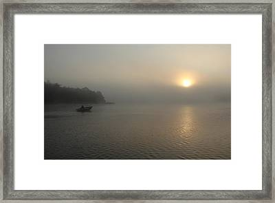 Into The Fog  Framed Print by Debbie Oppermann