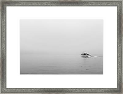 Into The Fog Framed Print by Jon Glaser