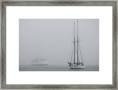 Into The Fog Framed Print