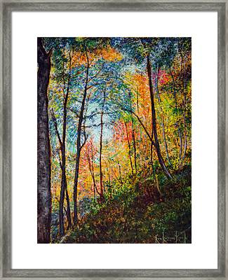 Into The Forest Framed Print by Ron Richard Baviello
