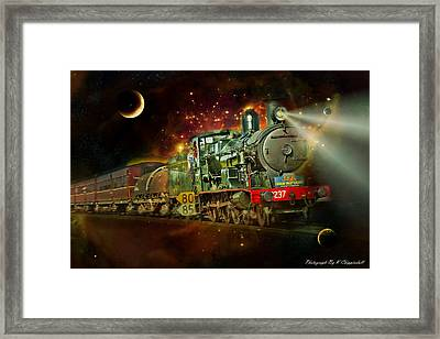 Into The Future 01 Framed Print