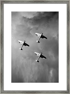 Into The Gathering Storm Black And White Version Framed Print