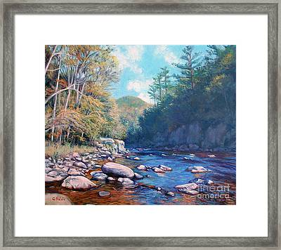 Into The Gorge Framed Print by Gerard Natale
