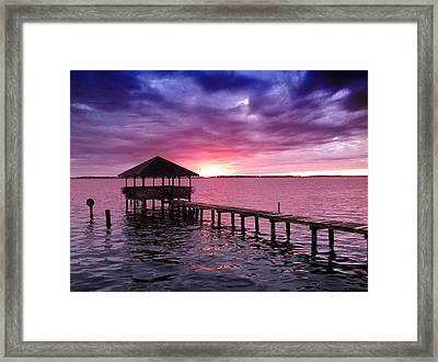 Into The Horizon Framed Print