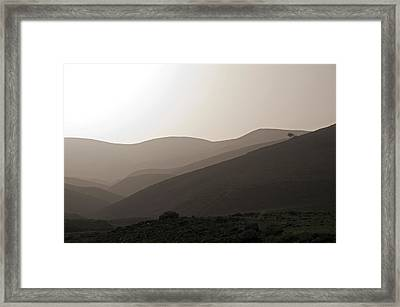 Into The Israel Desert - 1 Framed Print
